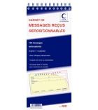 Carnet de 120 messages reçus ELVE - 2091 - avec bande adhésive - 32,2 x 14 cm