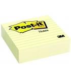 Bloc cube POST-IT - grand format ligné - 100 x 100 mm - jaune pastel