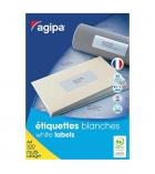 Boîte de 100 feuilles 6400 étiquettes multi-usage APLI 102202 - 45,7 x 16,9 mm