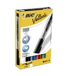 Etui de 4 marqueurs effaçables BIC - Velleda Pocket Liquid'Ink - couleurs standards