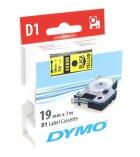 Ruban laminé DYMO D1 - 19 mm x 7 m - noir/jaune