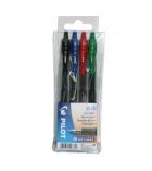 Pochette de 4 stylos PILOT - Gel G2 - rétractable - pointe moyenne - 0,39 mm - assortiment