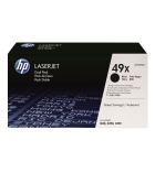 Pack 2 cartouches d'impression laser noir HP 2 x 6000 pages - Q5949XD - 49XD