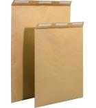Paquet de 50 pochettes auto-adhésives kraft brun armé - 229 x 324 mm - sans fenêtre - 130 g