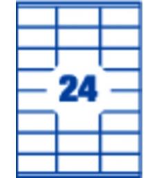 Boîte de 100 feuilles A4 - 2400 étiquettes adhésives laser-copieur APLI - 119062 - 70 x 37 mm