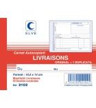 Autocopiants imprimés ELVE - 2102 -  bon de livraison - 50 dupli - 105 x 135 mm