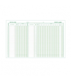 Piqûre comptable EXACOMPTA - journal caisse ou banque vertical 6510 - 32 x 25 cm