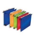 Paquet de 10 dossiers suspendus polypro pour tiroir L'OBLIQUE Ultimate - fond 50 mm - bleu