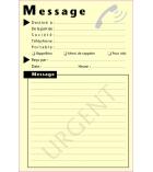 """Bloc - notes repositionnables - """"Message"""" - 100 x 150 mm - 50 feuilles - jaune"""