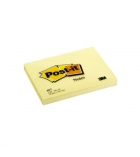 Bloc notes repositionnables POST-IT - notes 76 x 102 mm - jaune