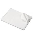 Carton papier listing 2000 plis 11''x 380 mm - 1+0 - 60 g - zoné vert - bande caroll fixe