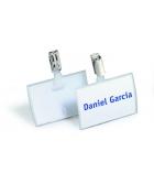 Boîte de 25 porte-badges DURABLE Clickfold - avec clip - 54 x 90 mm