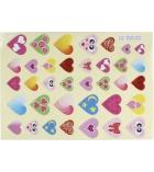 Pochette de 720 gommettes 20 planches - assortiment de cœurs