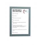 Lot de 2 pochettes adhésives DURABLE cadre magnétique repositionnable - pour A4