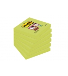Paquet de 6 blocs notes repositionnables POST-IT Super sticky - 76 x 76 mm