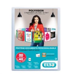 Protège documents ELBA Polyvision 80 vues - A4+