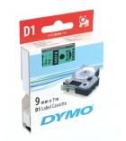 Ruban laminé DYMO D1 - 9 mm x 7 m - noir/vert