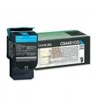 Cartouche d'impression laser couleur cyan LEXMARK 4000 pages - C544X1CG