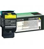 Cartouche d'impression laser couleur jaune LEXMARK 4000 pages - C544X1YG