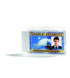 Boîte de 10 porte-cartes DURABLE - fermé 1 carte - 54 x 85 mm