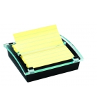 Devidoir POST-IT Z'notes Millenium + bloc Super Sticky -  ligné - jaune