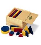 Jeu mathématiques blocs logiques en bois 64 pièces