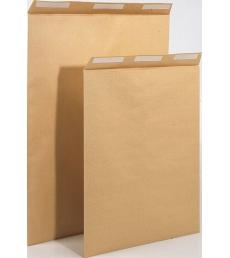 Paquet de 50 pochettes auto-adhésives kraft brun armé - 275 x 365 mm - sans fenêtre - 130 g