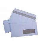Boîte de 500 enveloppes auto-adhésives LA COURONNE - 110 x 220 mm - fenêtre 35 x 100 - 80 g