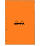 Bloc-notes piqûre 4 trous RHODIA A4+ - 210 x 318 mm 5 x 5 - 80g