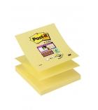 Paquet de 12 blocs Z'notes POST-IT Super sticky - 76 x 76 mm - jaune