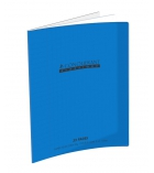 Cahier maternelle polypro piqûre CONQUERANT 32 pages - 17 x 22cm - double ligné 3 mm - bleu
