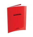 Cahier maternelle polypro piqûre CONQUERANT 32 pages - 17 x 22 cm - séyès 2,5 mm - rouge