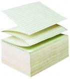 Carton papier listing 2000 plis 12''x380 mm - 1+0 - 70 g - zoné vert - bande caroll fixe