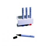Porte-marqueurs rectangulaire magnétique - pour 4 marqueurs