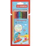 Étui 18 crayons de couleur BIC Aquacouleur - couleurs assorties