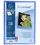 Protège documents polypro personnalisable  EXACOMPTA Kreacover - 20 poches - A4+
