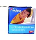 Boîte de 250 pastilles adhésives double face APLI - 118100 - 12 x 12 mm