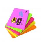 Paquet de 5 blocs repositionnables POST-IT Super Sticky Néon - 76 x 127 mm