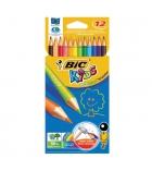 Etui de 12 crayons couleur BIC KIDS - Evolution