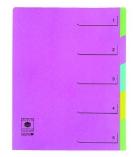 Trieur extensible couverture carte - 5 compartiments