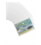 Sachet de 12 enveloppes perforées TARIFOLD Green Line avec velcro - pour A4 - incolore