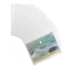 Sachet de 12 enveloppes perforées TARIFOLD T-collection avec velcro - pour A4 - incolore