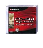 Pack 5 CD-RW 80 min/700 Mo EMTEC - boîtier standard