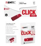 Clé USB 3.0 b100 EMTEC - Click - 64 Go