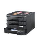 Bloc de classement - 4 tiroirs - 100% recyclé - noir