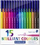 Set de 15 feutres de coloriage STAEDTLER - Triplus Color 323 - assortiment