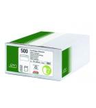 Boîte de 500 enveloppes auto-adhésives GPV - 110 x 220 mm - fenêtre 35 x 100 - 75 g