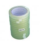 Tube de 12 rouleaux d'adhésifs transparents - 12 mm x 66 m