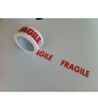 "Ruban adhésif polypro imprimé ""fragile"" - 50 mm x 100 m"