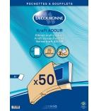 Boîte de 50 pochettes kraft auto-adhésives LA COURONNE - 229 x 324 - sans fenêtre - 90 g - 3 cm